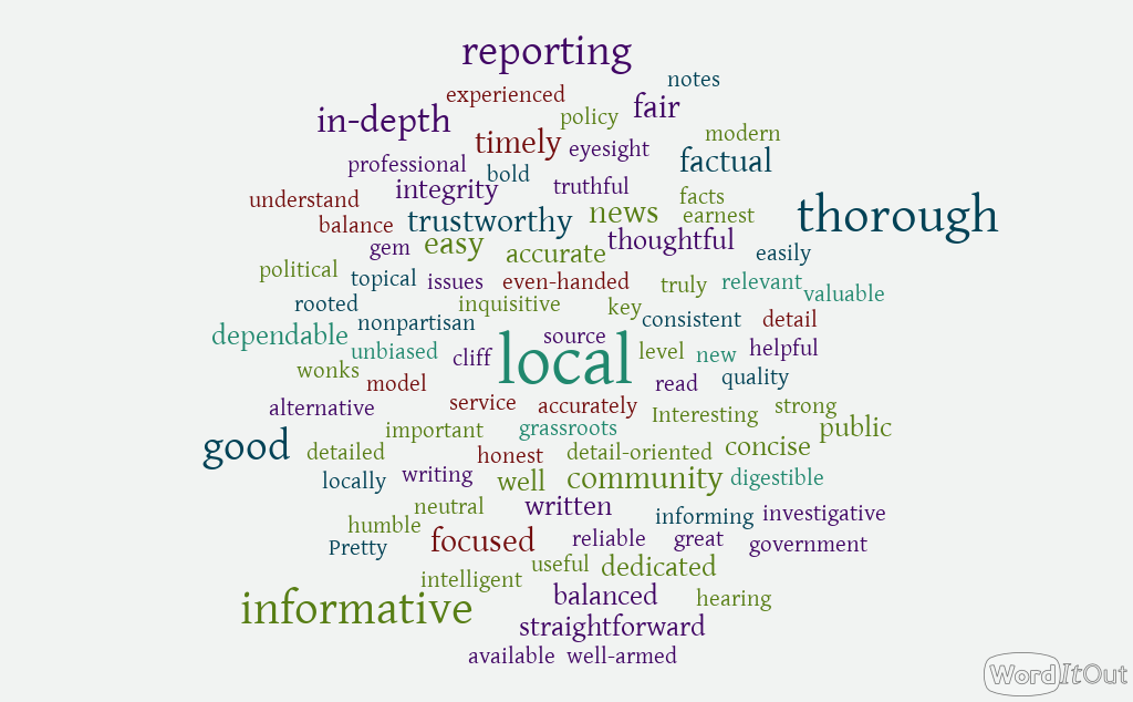 "words that describe Santa Cruz Local, including ""local"" ""thorough"" ""informative"" and ""in-depth"""