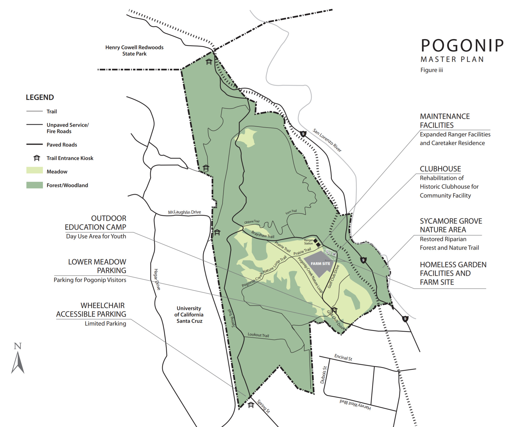 map of Pogonip Homeless Garden Project proposed location