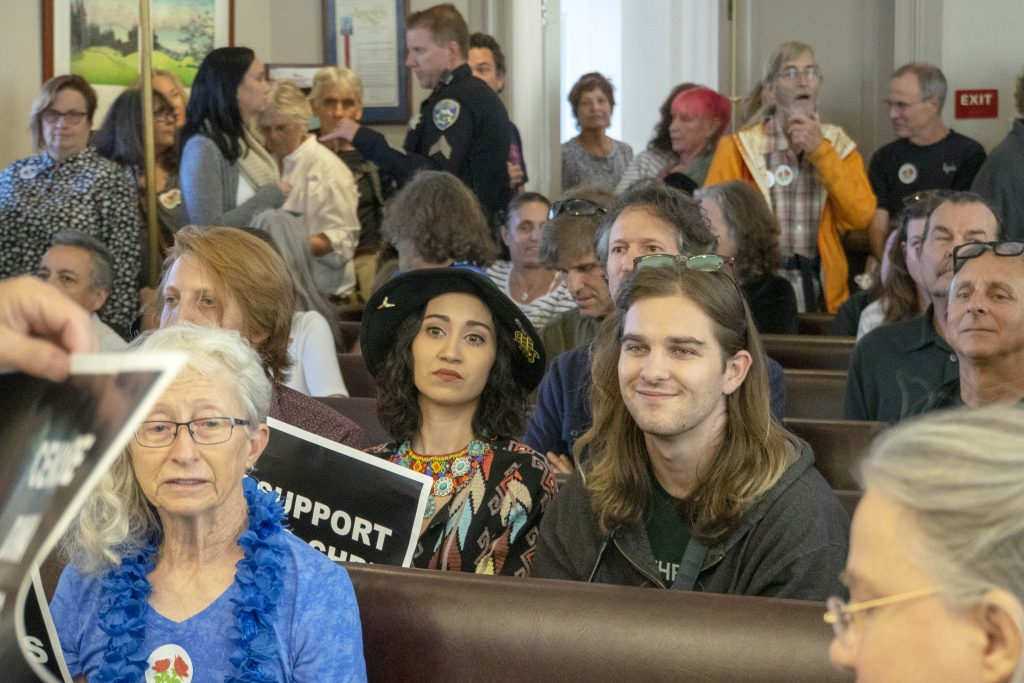 Santa Cruz City Council chambers were packed in 2019