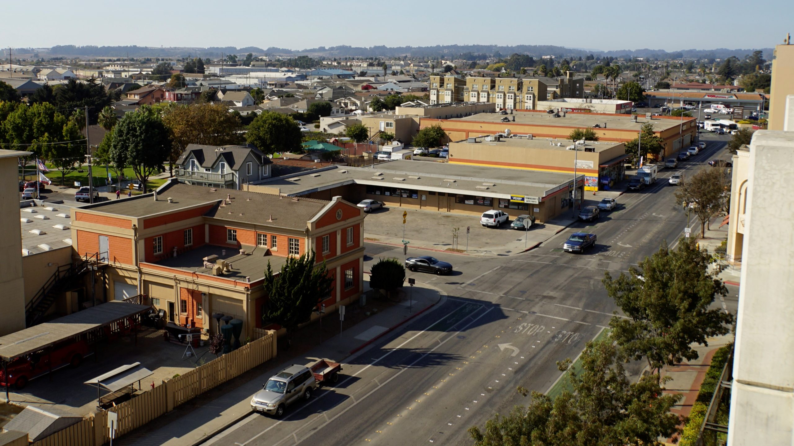 aerial of downtown Watsonville