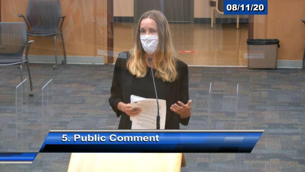 public comment at a Santa Cruz County Board of Supervisors meeting