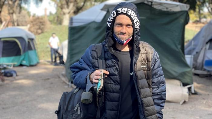 Matthew Hendrix Benchlands homeless camp